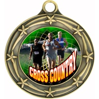 "3"" Star Full Color Male Cross Country Medals 033A-FCL-447"