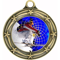"3"" Star Full Color Snow Skiing Medals 033A-FCL-460"