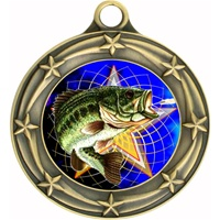 "3"" Star Full Color Fishing Medals 033A-FCL-470"