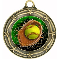 "3"" Star Full Color Softball Medals 033A-FCL-546"