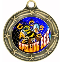 "3"" Star Full Color Spelling Bee Medals 033A-FCL-554"