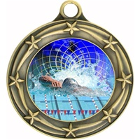"3"" Star Full Color Swimming Medals 033A-FCL-560"