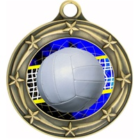 "3"" Star Full Color Volleyball Medals 033A-FCL-572"