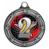 "3"" Star Full Color 2nd Place Medals 033A-FCL-582"