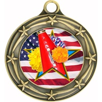 "3"" Star Flag Cheerleading Medal 033A-FCL-708"