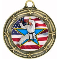 "3"" Star Flag Karate Medal 033A-FCL-722"