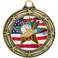 "3"" Star Flag Track Medal 033A-FCL-732"