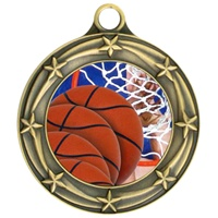 "3"" Star Full Color Basketball Medals 033A-FCL-8"