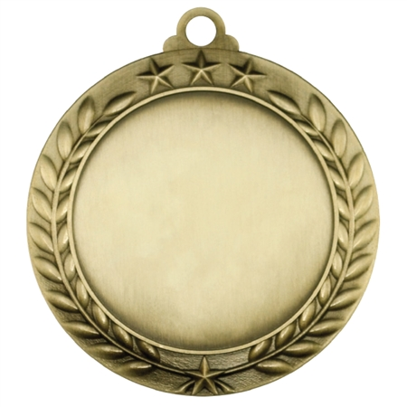 "2-3/4""Antique Finish Star Wreath BLANK Insert Medal"