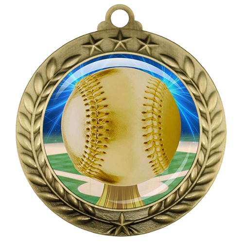 "2-3/4"" Baseball Medal with Epoxy Dome 039-D05"