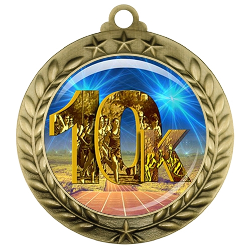 "2-3/4"" 10k Medal with Epoxy Dome 039-D07"