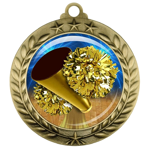 "2-3/4"" Cheerleading Medal with Epoxy Dome 039-D15"