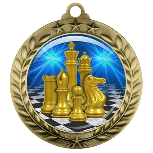 "2-3/4"" Chess Medal with Epoxy Dome 039-D17"