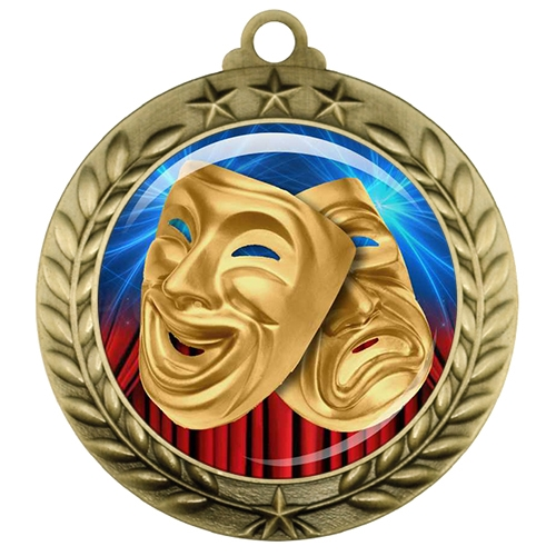 "2-3/4"" Drama Medal with Epoxy Dome 039-D19"