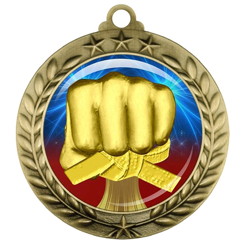 "2-3/4"" Martial Arts Medal with Epoxy Dome 039-D25"