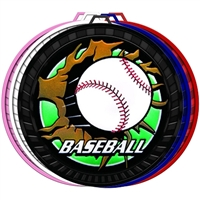 "2-1/2"" Color Blast Baseball Medal 052-BM-205"
