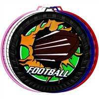 "2-1/2"" Color Blast Football Medal 052-BM-225"
