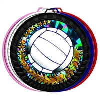"2-1/2"" Color Holographic Diamond Series Volleyball Medal 052-DM455"