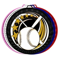 "2-1/2"" Color Elegance Series Baseball Medal 052-ED605"