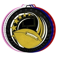 "2-1/2"" Color Elegance Series Football Medal 052-ED625"