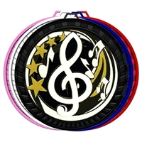 "2-1/2"" Color Elegance Series Music Medal 052-ED632"