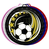 "2-1/2"" Color Elegance Series Soccer Medal 052-ED640"