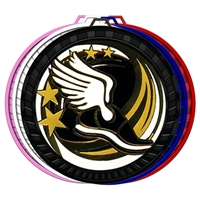 "2-1/2"" Color Elegance Series Track Medal 052-ED650"