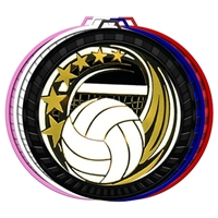 "2-1/2"" Color Elegance Series Volleyball Medal 052-ED655"