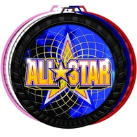 "2-1/2"" Color All Star Medal 052-FCL402"
