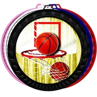 "2-1/2"" Color Basketball Medal 052-FCL411"