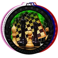 "2-1/2"" Color Chess Medal 052-FCL440"
