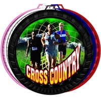 "2-1/2"" Color Male Cross Country Medal 052-FCL447"