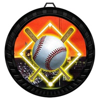 "2-1/2"" Color Baseball Diamond Medal 052-FCL5"
