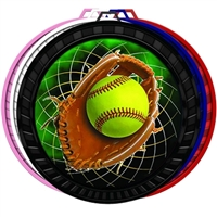 "2-1/2"" Color Softball Medal 052-FCL546"