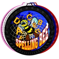 "2-1/2"" Color Spelling Bee Medal 052-FCL554"