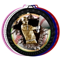 "2-1/2"" Color Burst Baseball Medal 052-FCL754"