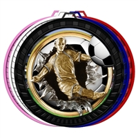 "2-1/2"" Color Burst Boys Soccer Medal 052-FCL768"