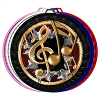 "2-1/2"" Color Burst Music Medal 052-FCL770"
