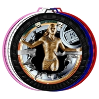 "2-1/2"" Color Burst Womens Track Medal 052-FCL785"