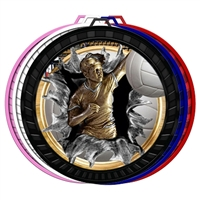 "2-1/2"" Color Burst Women's Volleyball Medal 052-FCL788"