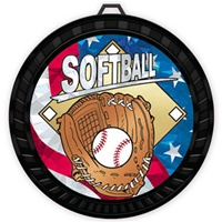 "2-1/2"" Color USA Softball Medal 052-MY502"