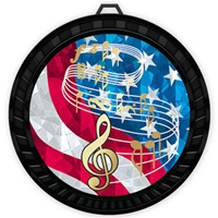 "2-1/2"" Color USA Music Medal 052-MY516"