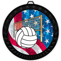 "2-1/2"" Color USA Volleyball Medal 052-MY523"