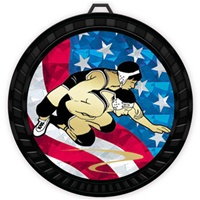 "2-1/2"" Color USA Wrestling Medal 052-MY524"