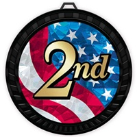 "2-1/2"" Color USA 2nd Place Medal 052-MY526"