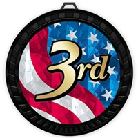 "2-1/2"" Color USA 3rd Place Medal 052-MY527"