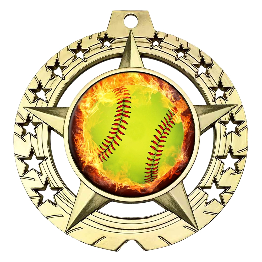 Flame Softball Medal