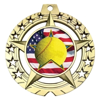 "Large 3-3/4"" Tennis Medal"