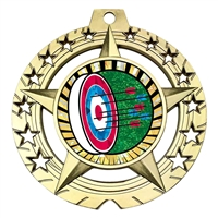 "Large 3-3/4"" Archery Medal"