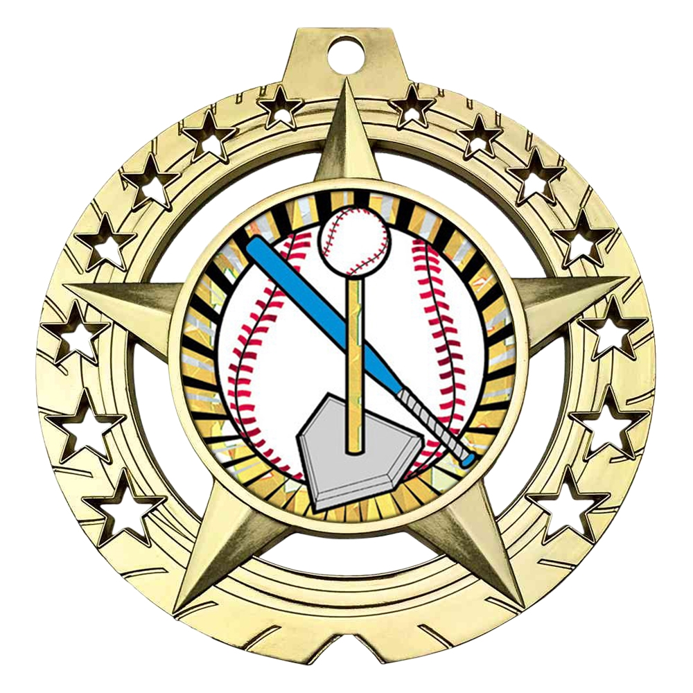 "Large 3-3/4"" T Ball Medal"